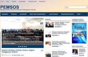 Homepage Pemsos FISIP Universitas Tanjungpura